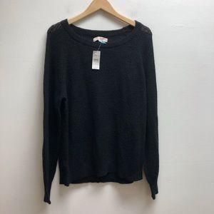 Loft Black Sweater Large NWT